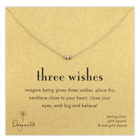 Dogeared 'Three Wishes' Boxed Pendant Necklace | Nordstrom