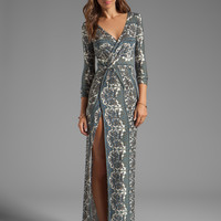 NOVELLA ROYALE Siren Maxi Dress in Chantilly