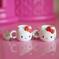 Hello Kitty mug earrings