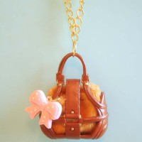 Handbag necklace