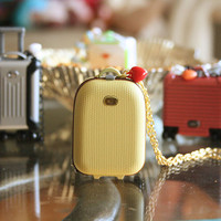 Audrey hand carry suitcase necklace