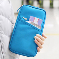 Passport Organizer for Travel Blue