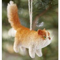 Bottlebrush Orange Tabby Cat Ornament