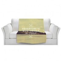 Artistic Velveteen Throw Blanket | Rachel Burbee | Adventure is Worth |