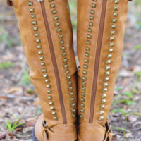 Restock: Talk Of The Town Boots: Cognac | Hope's