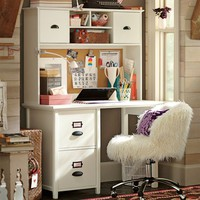 Chatham Small File Desk + Hutch