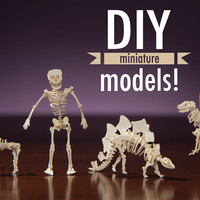 Tinysaurs: DIY small-scale skeletal paper models.