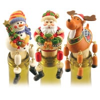 Wine Stoppin' Danglers - Santa & Friends (Set of 3)