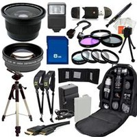 Outdoor Ultimate Accessory Package for the Canon EOS Rebel T3i, T4i, T5i DSLR (Which Has Canon 18-55mm, 55-250mm, 75-300mm III, 70-300mm IS USM, 28mm f1.8, 50mm F1.4, 85mm F1.8 Or 100mm F2.8 Lens)