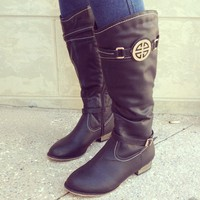 Don't Tell A Sole Boots: Black