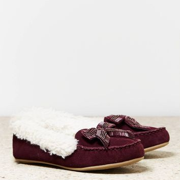 AEO Beaded Bow Moccasin | American Eagle Outfitters