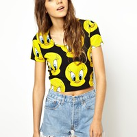 Lazy Oaf X Looney Tunes Tweety Pie Crop T-Shirt