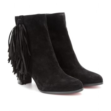 mytheresa.com -  Jimmynetta 70 fringed suede ankle boots  - tuesday - current week - new arrivals - Luxury Fashion for Women / Designer clothing, shoes, bags