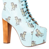 Jeffrey Campbell Lita Unicorn Blue