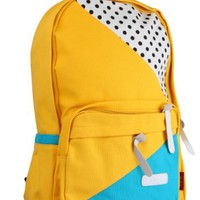 Nice Cartoon Point Canvas Backpack Bag