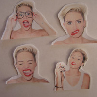 miley cyrus stickers by SassyStickers on Etsy