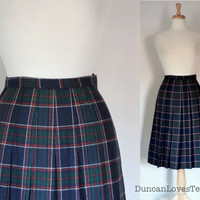 Vintage 80s Plaid Tartan Skirt