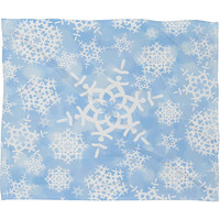 DENY Designs Home Accessories | Lisa Argyropoulos Snow Flurries in Blue Fleece Throw Blanket