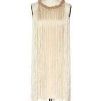 Dapper as a Flapper Dress in Beige