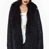 Nasty Gal Almost Famous Coat - Black