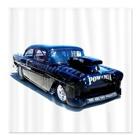 Black POW Classic Car Shower Curtain on CafePress.com