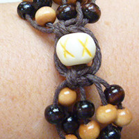 Bone Orb  Hemp Bracelet
