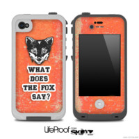 What Does the Fox Say Red Grunge Skin for the iPhone 5 or 4/4s LifeProof Case - iPhone
