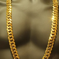 Yellow Gold Finish Miami Cuban Link 380 Grams