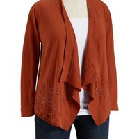 Old Navy Womens Plus 3/4 Sleeve Cropped Cardigan