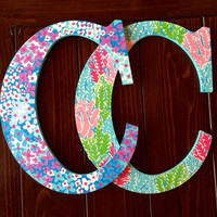 Hand Painted Lilly Pulitzer Wooden Letter by CraftingCollegeGirl