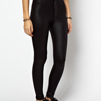 ASOS Skinny Disco Pants in High Shine