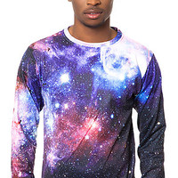 Beloved Sweatshirt Galaxy Crewneck in Purple