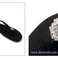 Slim Havaianas Thongs Featuring Clear Swarovski Crystals
