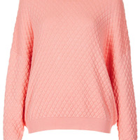 Knitted Quilted Jumper Jumper - Topshop