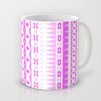 Pink Aztec Mug by Ornaart