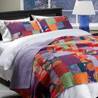Hand-Stitched Kantha Bedding - Gaiam