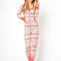 New Look Geo-Tribal Fairisle Onesuit