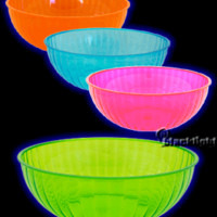 N192629 - Neon Blacklight Reactive 192 Ounce Plastic Party Bowl - Individual