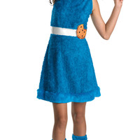 Tween Cookie Monster Girls Costume - Sesame Street Costumes