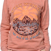 Obey Girls Stay Weird Picante Crew Neck Sweatshirt