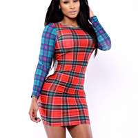 The Plaid Fusion Dress
