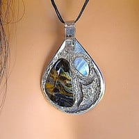 Sterling Silver Handcrafted One of a Kind Reversible Pendant