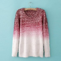 GRADIENT FASHION SWEATER Red