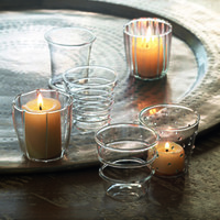 Clear Glass Cups, Set of 6