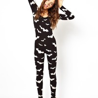 ASOS Halloween Unitard with Bat Print