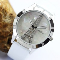 Eiffel Tower Melissa Best Crystal Watch for Women F11793 Personalized Couples Gifts | His Her Necklaces and Bracelets | Engraved Wedding Rings | Couples Clothing