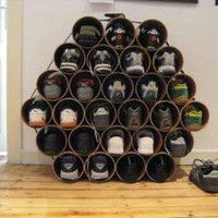 DIY Shoe Racks using Drain Pipes