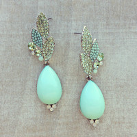 Pree Brulee - Silver Mint Sparkle Earrings