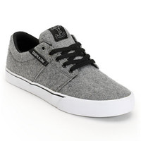 SUPRA Stacks Vulc Grey Wool Skate Shoe