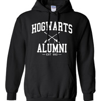 Hogwarts Alumni Hoodie Printed Hooded Sweatshirt Mens Womens Ladies Funny Harry Potter Wizard Magical ML-006W4